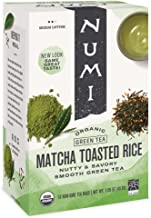 Numi Organic Tea Matcha Toasted Rice, 18 Count Box of Tea Bags (Pack of 3) Full Leaf Sencha Green Tea (Packaging May Vary)