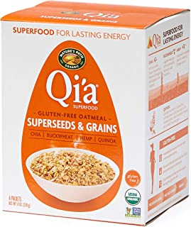 Nature's Path Qi'a Superfood Organic Gluten Free Oatmeal, Super Seed & Grains, 8 Oz Box (Pack of 6)