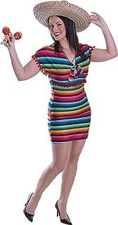 Bristol Novelty AC527 Mexican Lady Dress Costume (UK 10-14)