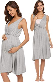 Women's Nursing/Delivery/Labor/Hospital Nightgown Sleeveless Maternity Nightgown Sleepwear