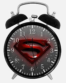 Superman Twin Bells Alarm Desk Clock 4
