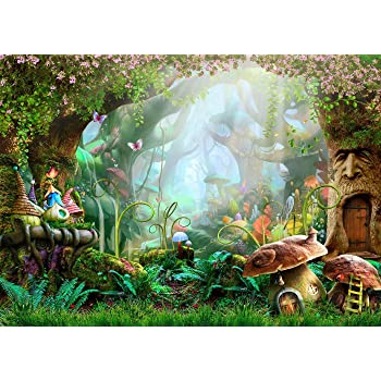 New Winter Forest Backdrop for Baby Shower 7x5 Wild Jungle Photography Background Christmas for Newborn Vinyl Photo Backdrops Wonderland Backgrounds for Kids Birthday Party Decoration
