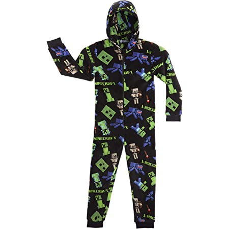 Boys Gamer On Duty Gaming Sleepsuit Black Blue All In One Cotton Onesie