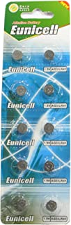 10 Eunicell AG3 / LR41 / 192/392 Button Cell Battery Long Shelf Life 0% Mercury (Expire Date Marked)