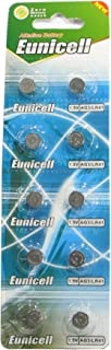10 Eunicell AG3 / LR41 / 192 / 392 Button Cell Battery Long Shelf Life 0% Mercury (Expire Date Marked)