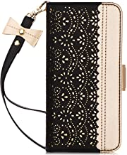 WWW Samsung Galaxy S10 Plus Case,Galaxy S10 Plus Wallet Case, [Luxurious Romantic Carved Flower] Leather Wallet Case [Insi...
