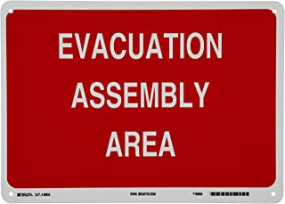 Best emergency evacuation assembly area sign Reviews