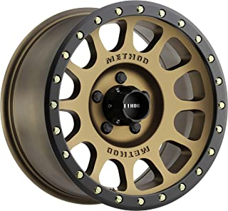 Method Race Wheels MR305 NV BRONZE Wheel with Method Black Street LOC and Zinc Plated Accent Bolts (0 x 8.5 inches /5 x 127 mm, 0 mm Offset)