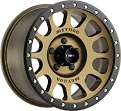Method Race Wheels MR30578555900 Bronze/Black Street Loc Wheel with Painted Finish and Zinc Plated Accent Bolts (17 x 8.5 inches /5 x 5.5 inches, 0 mm Offset)