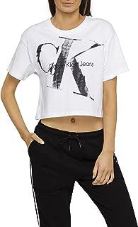 Calvin Klein Women's Surplus Khaki Cropped Logo Tee