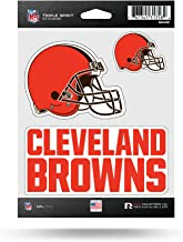 Cleveland City Brown Sport Football Logo Die-Cut Sticker Decal