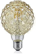 Trio Leuchten Lamp glas E27, 4 W, bruin getint hoogte 13,5 cm