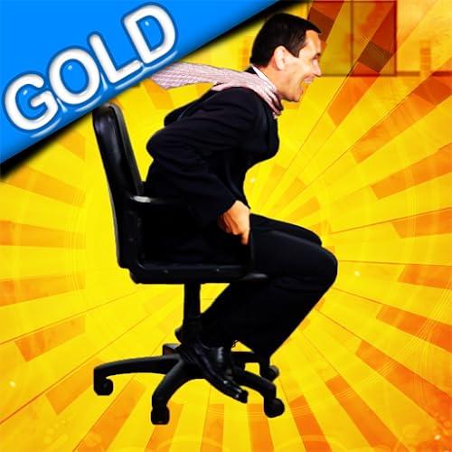 Raza de la silla de la oficina: la acción de rodadura sala de descanso del personal - gold edition