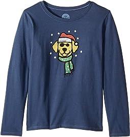 Holiday Dog Crusher Long Sleeve T-Shirt (Little Kids/Big Kids)