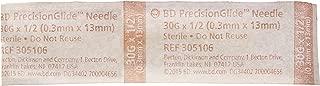 BD Medical Systems 305106 Needle, Regular Bevel, Sterile, 30 Gauge x à ½