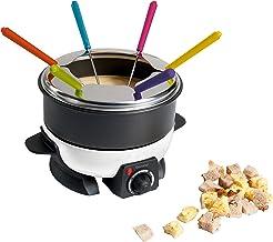 BARBACADO Fondue électrique 6 pers, appareil à fondue pics couleurs, fondue bourguignonne, fondue savoyarde