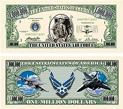 US Air Force USAF Commemorative Million Dollar Bill - Challenge Note - Great Gift Or Keepsake