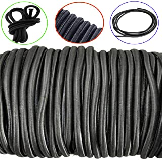 Tool Parts 6mm Shock Cord Black - 10 Metres - Bungee Rope Tonneau Covers Boat - 10 Meters