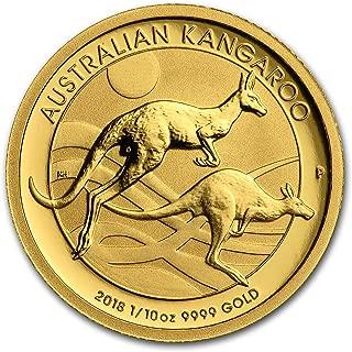 2018 AU Australia 1/10 oz Gold Kangaroo BU Gold Brilliant Uncirculated