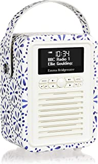 VQ Retro Mini DAB & DAB+ Digital Radio with FM, Bluetooth & Alarm Clock - Emma Bridgewater Blue Daisy