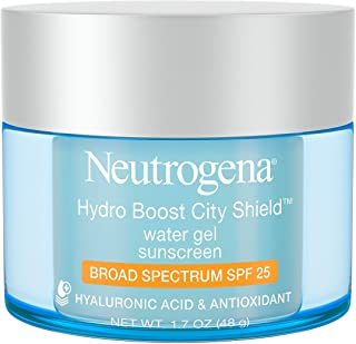 Neutrogena Hydro Boost City Shield Water Gel with Hydrating Hyaluronic Acid, Facial Moisturizer with Broad Spectrum SPF 25...