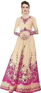 Cream Anarkali Style Suit