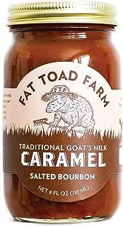 Fat Toad Farm Traditional Goat's Milk Caramel Sauce, Salted Bourbon, 8fl oz Jar, Cajeta, Gluten Free