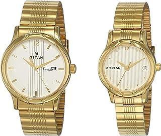 Titan Bandhan Analog Champagne Dial Couple's Watch NM15802490YM04/NN15802490YM04