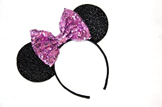 Light Purple Mickey Ears,Tangled Mickey Ears,Lilac Mickey Ears, Sequin Mickey Ears