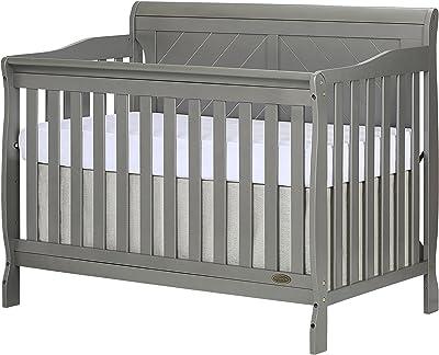 Dream On Me, Ashton Full Panel 5-in-1 Convertible Crib, Storm Grey