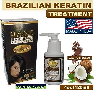 Nano Technology Brazilian Keratin Formaldehyde Free 4oz Coco and Chocolate Set