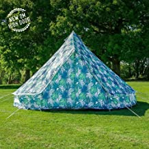 Boutique Camping Tents 5m Weekender Polyester Bell Tent - Palm Leaf