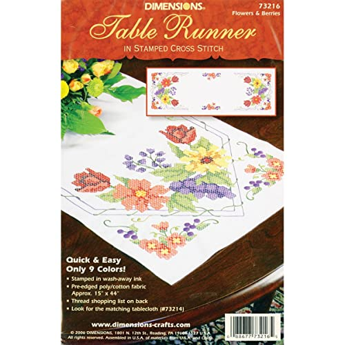 45179 Bridal Bouquet Bucilla Stamped Cross Stitch Table Topper 40 by 40-Inch