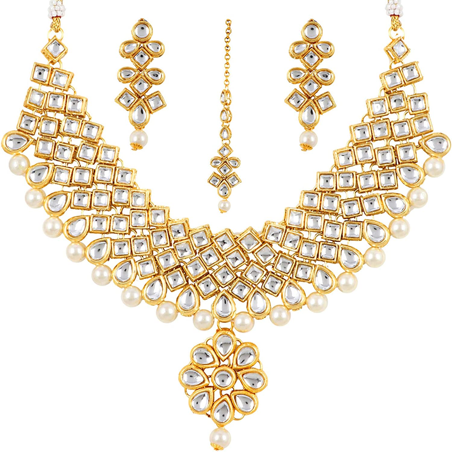 Aradhya Traditional famous Jewellery Gold Plated Necklace Kundan fo Set Max 66% OFF