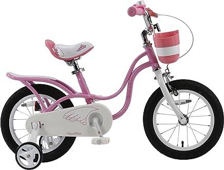 RoyalBaby Little Swan - Bicicleta Elegante para niña (Ruedas de 14-16-18 Pulgadas, Color Rosa y Blanco)