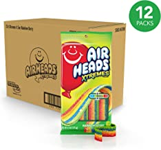 Airheads Xtremes Sweetly Sour Candy Belts, Rainbow Berry, Halloween Candy, Bulk, 4.5 Ounce (Bulk Pack of 12)
