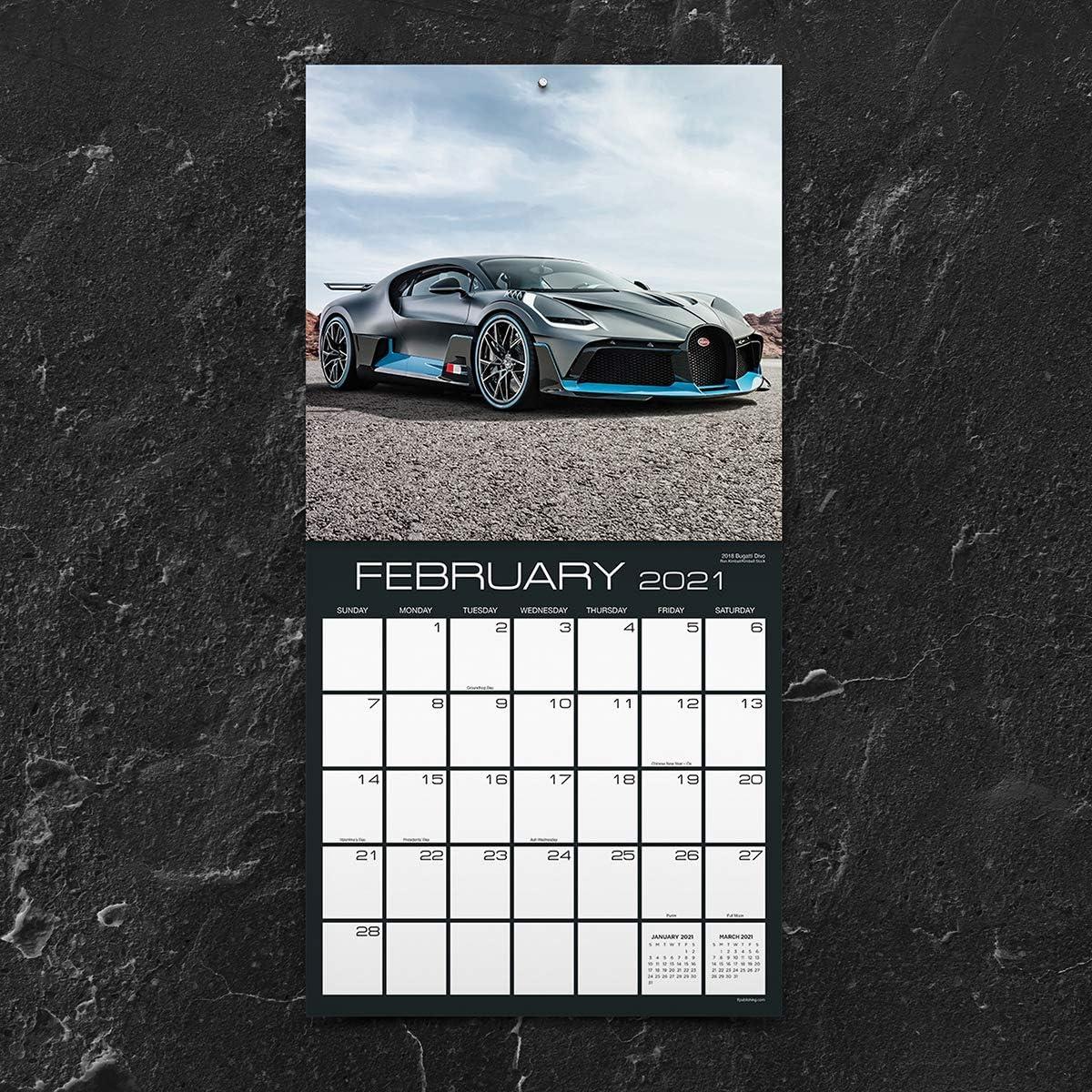 2021 Classic Cars 12x12 Wall Calendar
