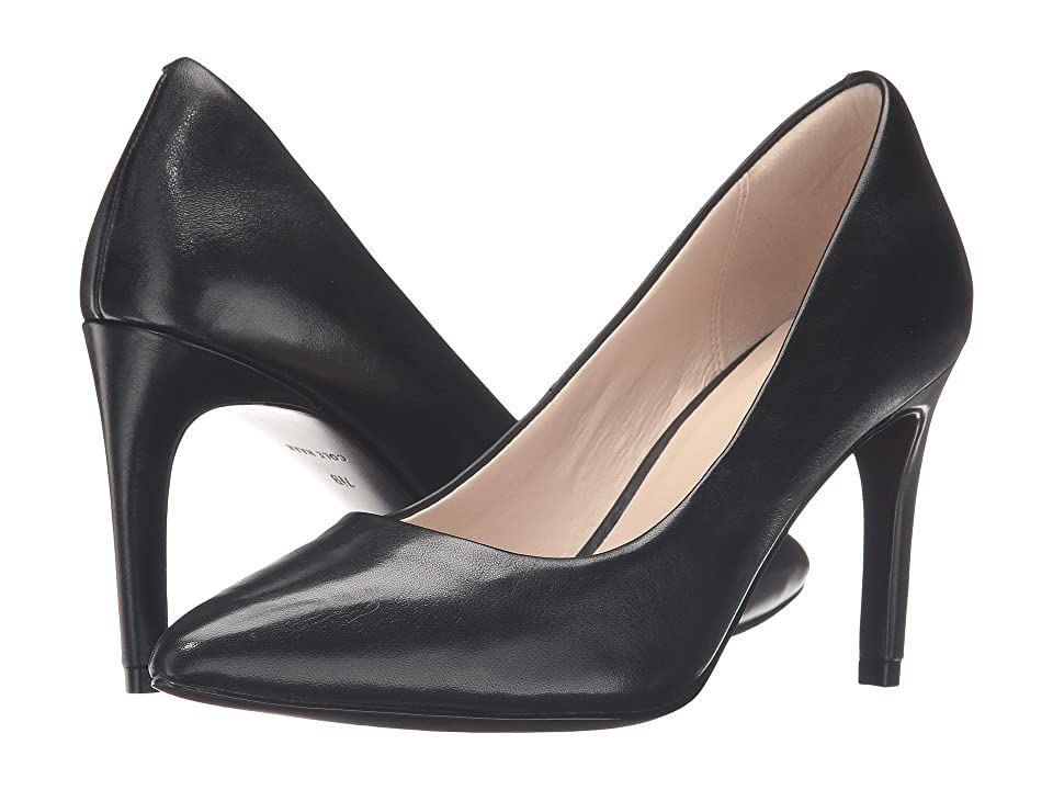 Cole Haan Amelia Grand Pump 85mm (Black Leather) Women
