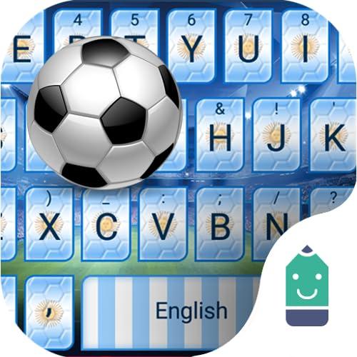 Argentina Football Theme&Emoji Keyboard