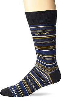 BOSS HUGO BOSS Men's Rs Stripe Dress Sock, Charcoal, 7-13
