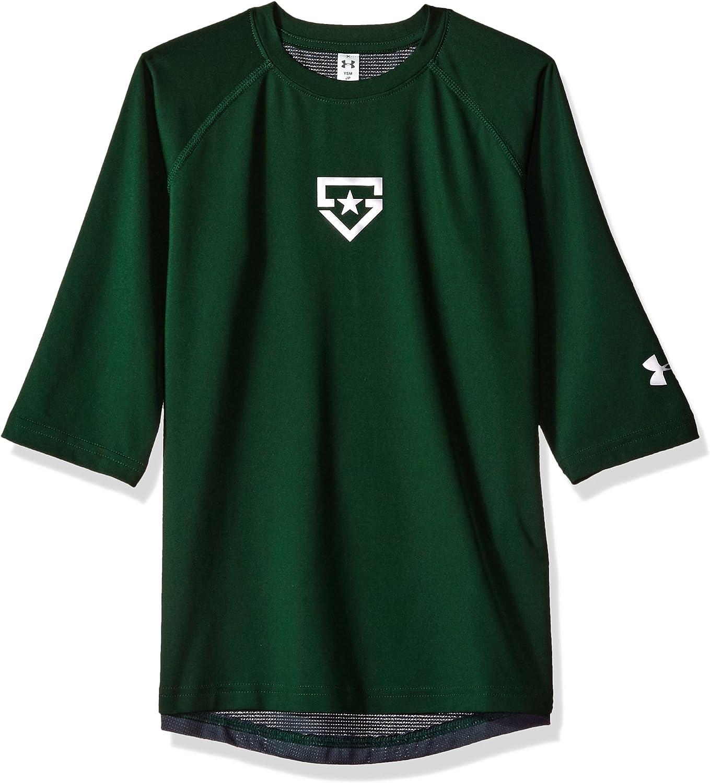 Under Armour Boys' Heater 3/4 Sleeve T-Shirt