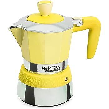 Pedrini MyMoka - Cafetera de inducción Inducción Mymoka 3 Tazze Sunshine: Amazon.es: Hogar