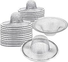 40 peças de filtro de cesta de aço inoxidável resistente, 6,35 cm de parte superior/2,5 cm de coador de pia de metal de ma...