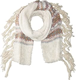 BCBGeneration - Border Fairisle Long & Skinny Scarf