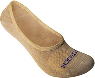 ZeroSock Womens Bamboo Super Low Invisible Socks With Mesh Ventilation with Anti-Slip Gel Heel Grip (4 Pairs Per Box)