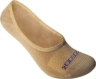 ZeroSock Womens Bamboo Super Low Invisible Socks With Mesh Ventilation with Anti-Slip Gel Heel Grip (4 Pairs Per Box)