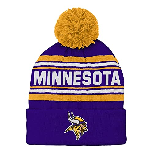 f277516d2 NFL Boys Kids & Youth Boys Jacquard Cuffed Knit Hat with Pom