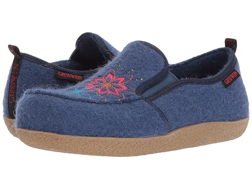 Giesswein Clara (Denim) Women's Slippers, Blue