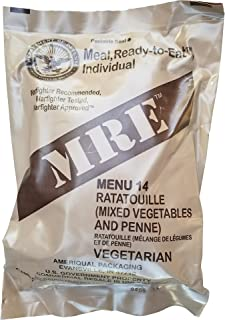 Ultimate 2018 US Military MRE Complete Meal Inspection Date January 2018 or Newer (Ratatouille)