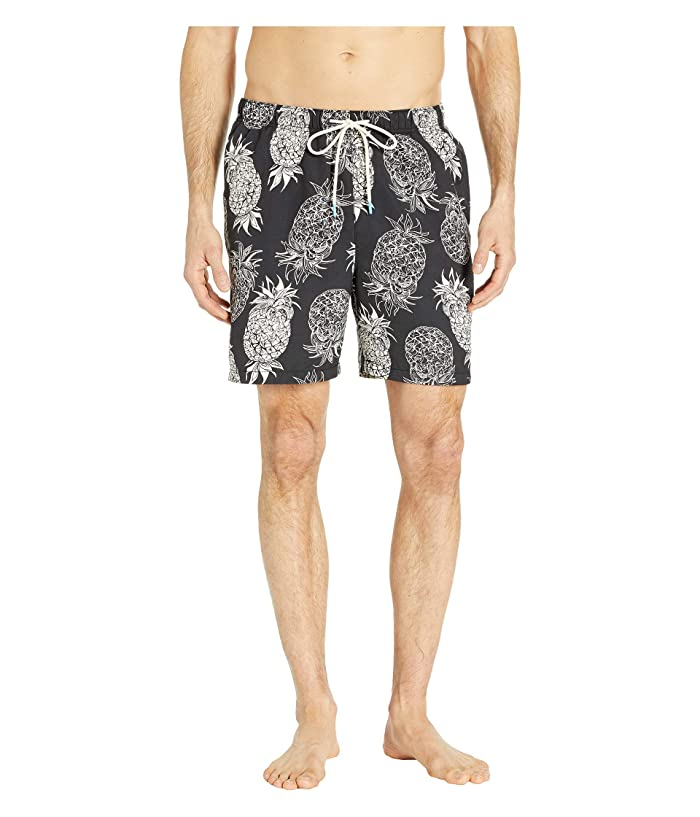 Tommy Bahama Naples Pina Pinata Swim Trunks (Black) Men
